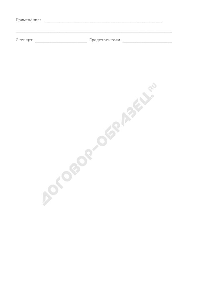 Акт отбора проб (образцов) для лабораторного анализа, проводимого экспертами Торгово-промышленной палаты СССР. Страница 3