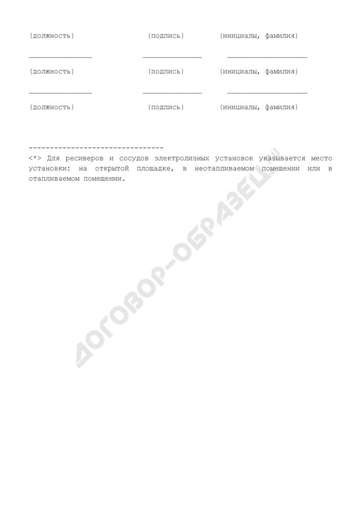 Акт по внешнему и (или) внутреннему осмотру сосуда, работающего под давлением (рекомендуемая форма). Страница 2