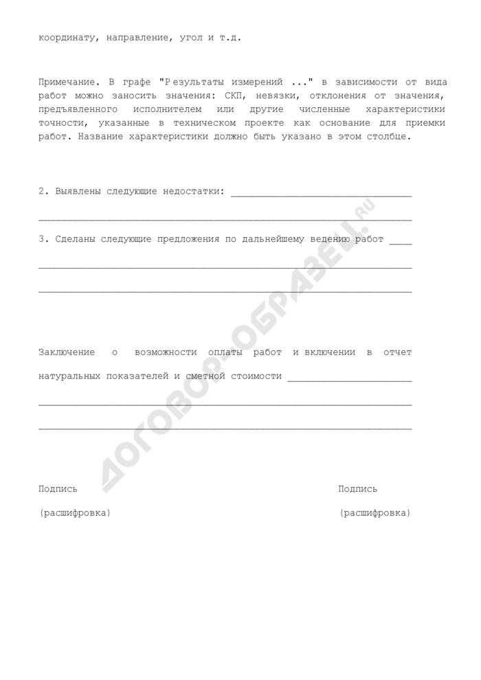 Акт по результатам контроля полевых работ. Страница 2