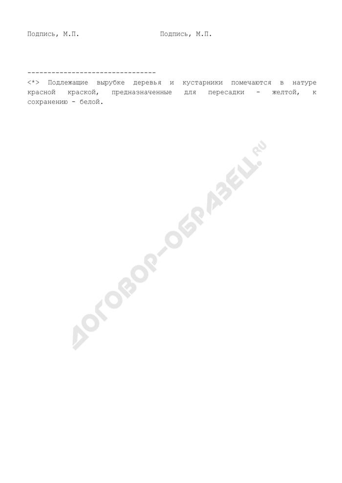 Акт пометки зеленых насаждений города Москвы. Страница 2