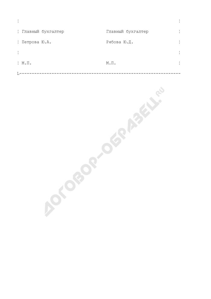 Акт зачета взаимных требований (пример). Страница 3