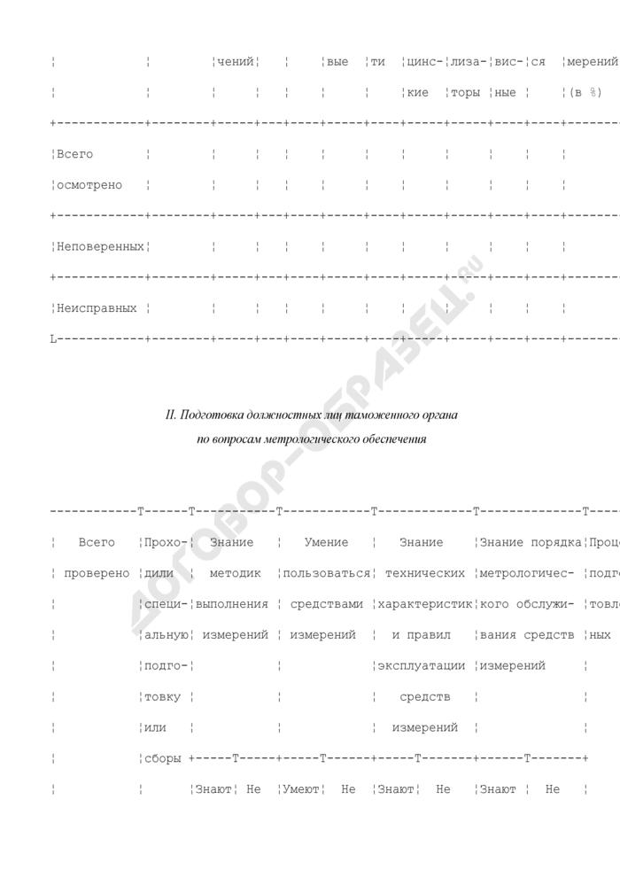 Акт проверки состояния метрологического обеспечения таможенного органа. Страница 2