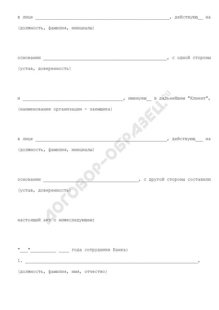 Акт проверки состояния имущества, предлагаемого в залог для открытия кредитной линии (залог товаров в обороте). Страница 2