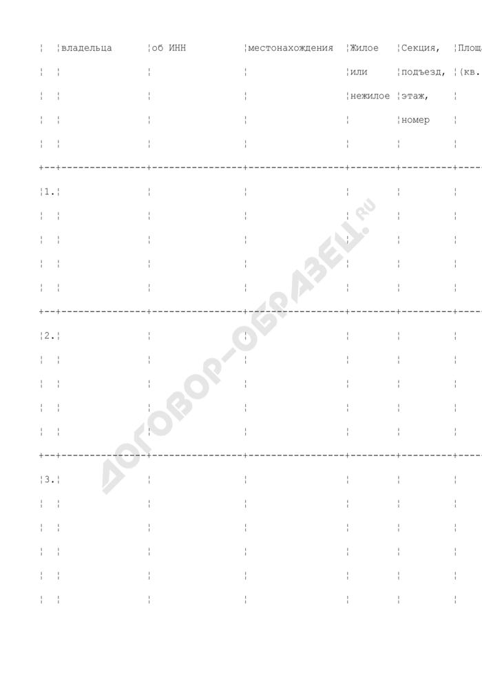 Акт распределения помещений многоквартирного дома (приложение к договору долевого участия в строительстве многоквартирного дома). Страница 2