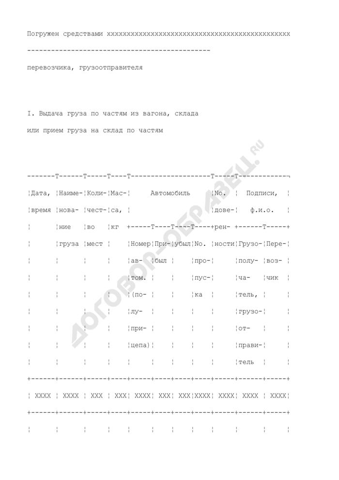 Приемо-сдаточный акт при приеме-выдаче грузов (кроме перевозимых в универсальных контейнерах и специализированных контейнерах, совпадающих по параметрам с универсальными) с использованием программного обеспечения. Форма N КЭУ-4ВЦ. Страница 2