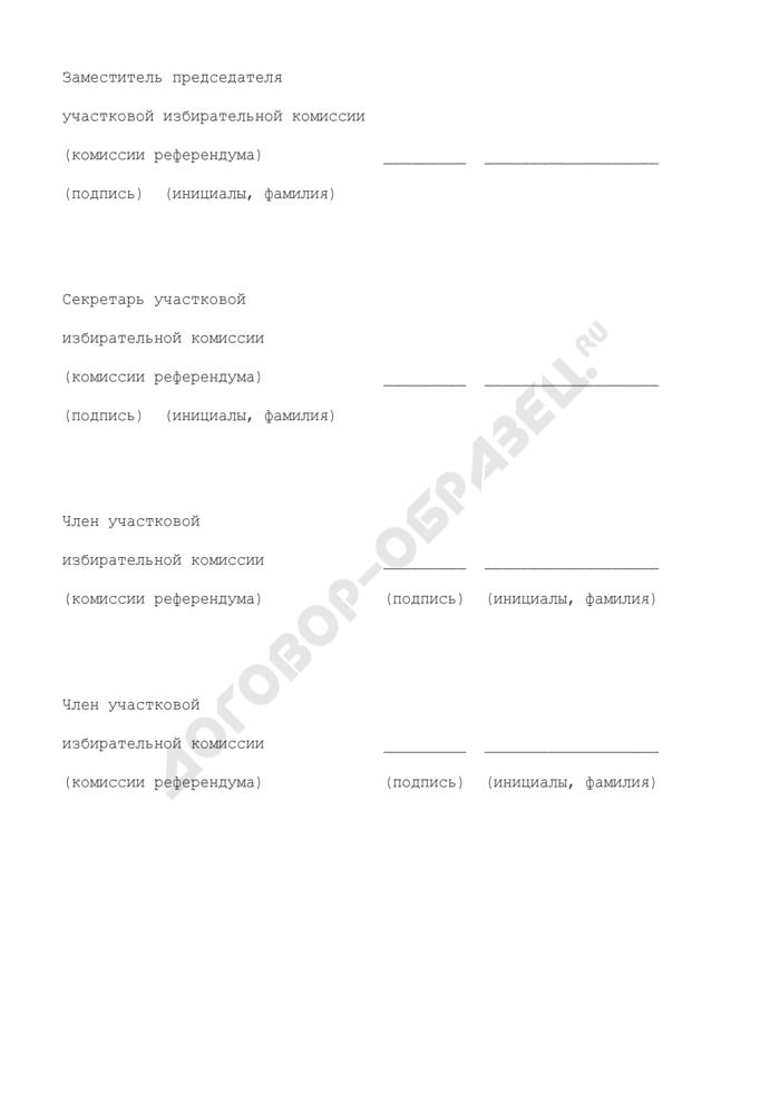 Акт об использовании тренировочных и тестовых бюллетеней при голосовании на выборах, референдуме в субъекте Российской Федерации. Страница 2