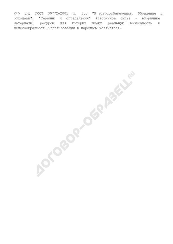 Данные об образовании отходов производства и потребления у индивидуальных предпринимателей и юридических лиц г. Москвы. Страница 2