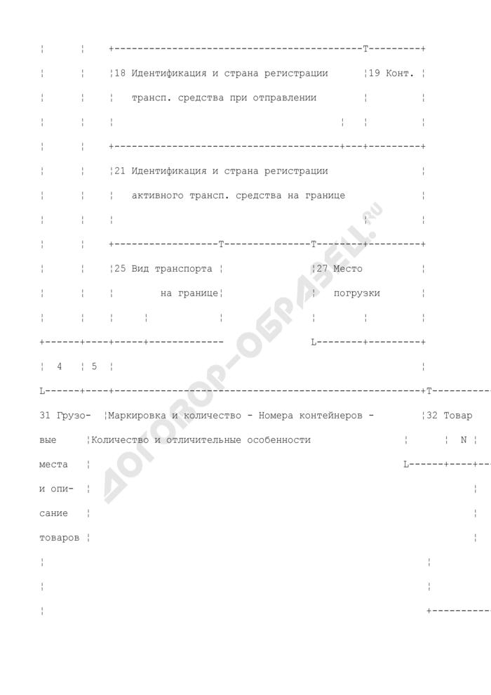 Грузовая таможенная декларация/транзитная декларация (экземпляр для органа назначения/возвратный экземпляр). Форма N ТД 3. Страница 2
