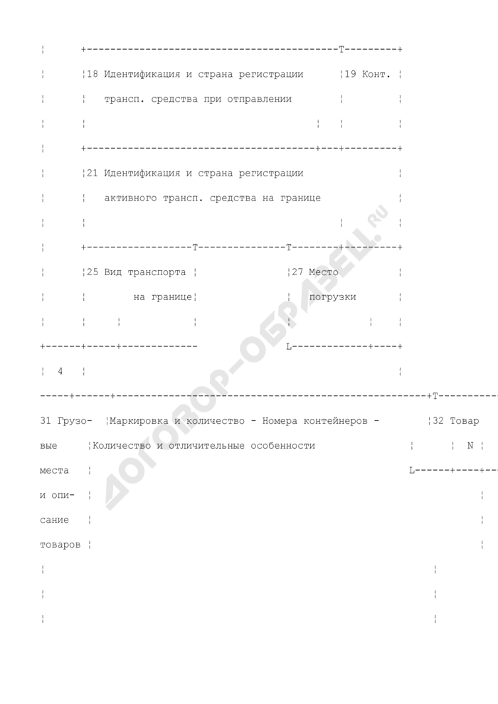 Грузовая таможенная декларация/транзитная декларация (экземпляр органа назначения). Форма N ТД 1. Страница 2