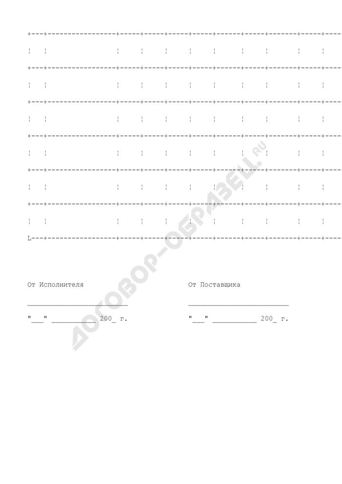 График поставки документации на микрофильмирование (приложение к договору на поставку и микрофильмирование документов страхового фонда документации г. Москвы). Страница 2