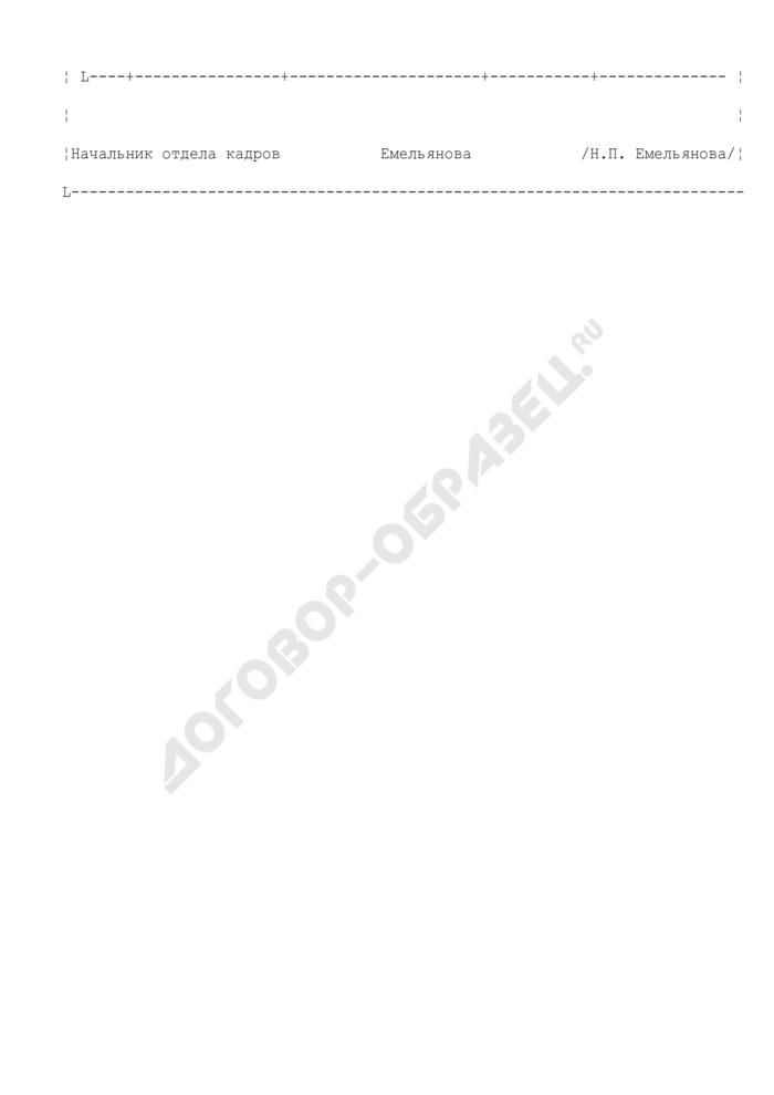 График проведения аттестации работников организации (пример). Страница 2