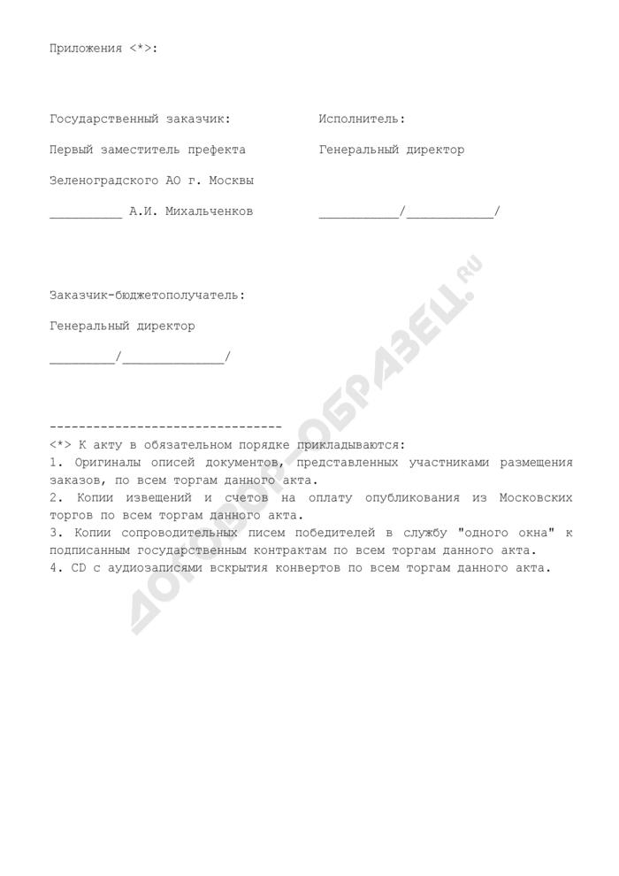 График осуществления работ по подготовке и проведению торгов (приложение к дополнительному соглашению по выполнению в установленном порядке технической работы по подготовке и проведению торгов (конкурсов либо аукционов) на размещение городского заказа). Страница 3