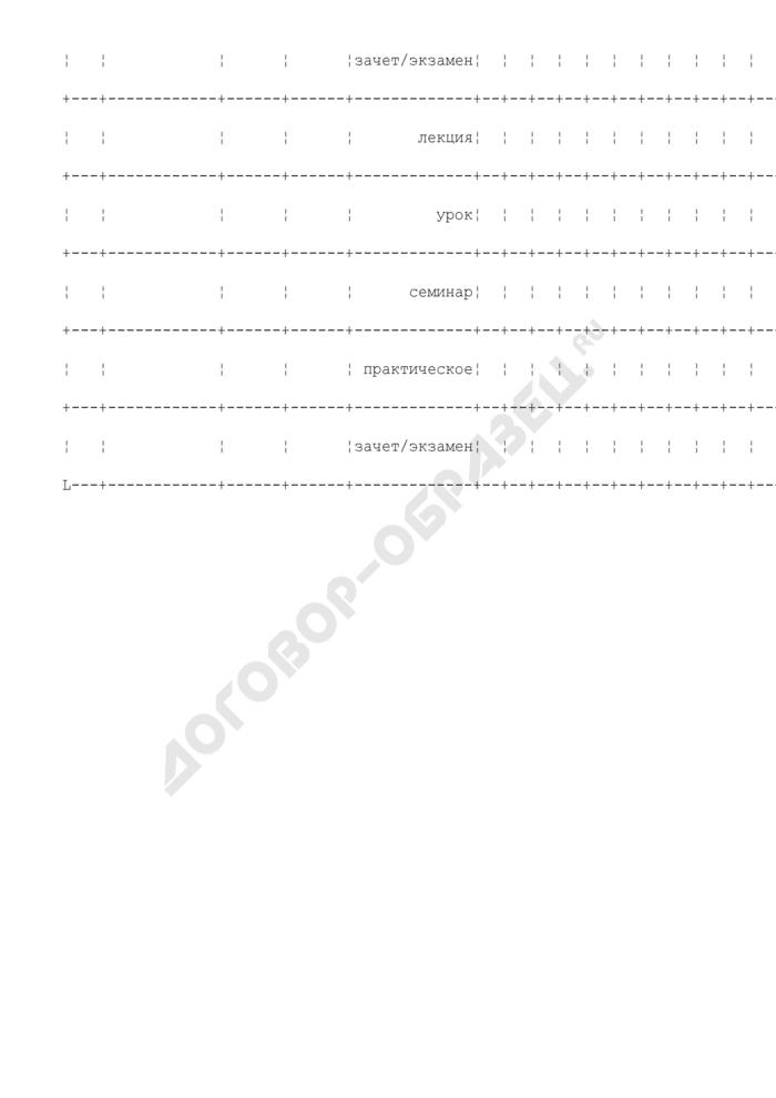 График понедельного прохождения учебных дисциплин учебного центра (учебного пункта) территориального органа уголовно-исполнительной системы. Страница 3