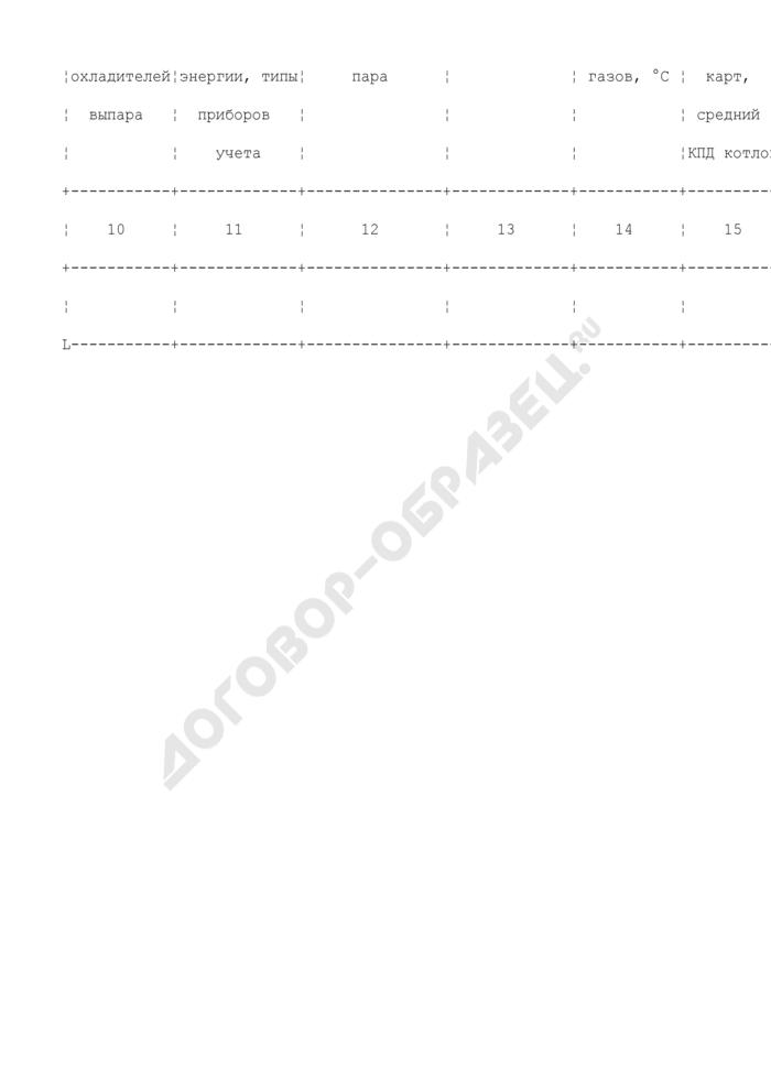 Техническая характеристика оборудования отопительной (производственно-отопительной) котельной (образец). Страница 2