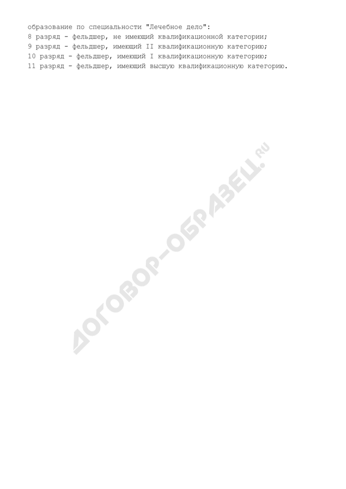 Тарифно-квалификационная характеристика фельдшера (8 - 11 разряды). Страница 2