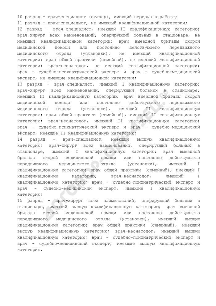 Тарифно-квалификационная характеристика врача-специалиста (10 - 15 разряды). Страница 2