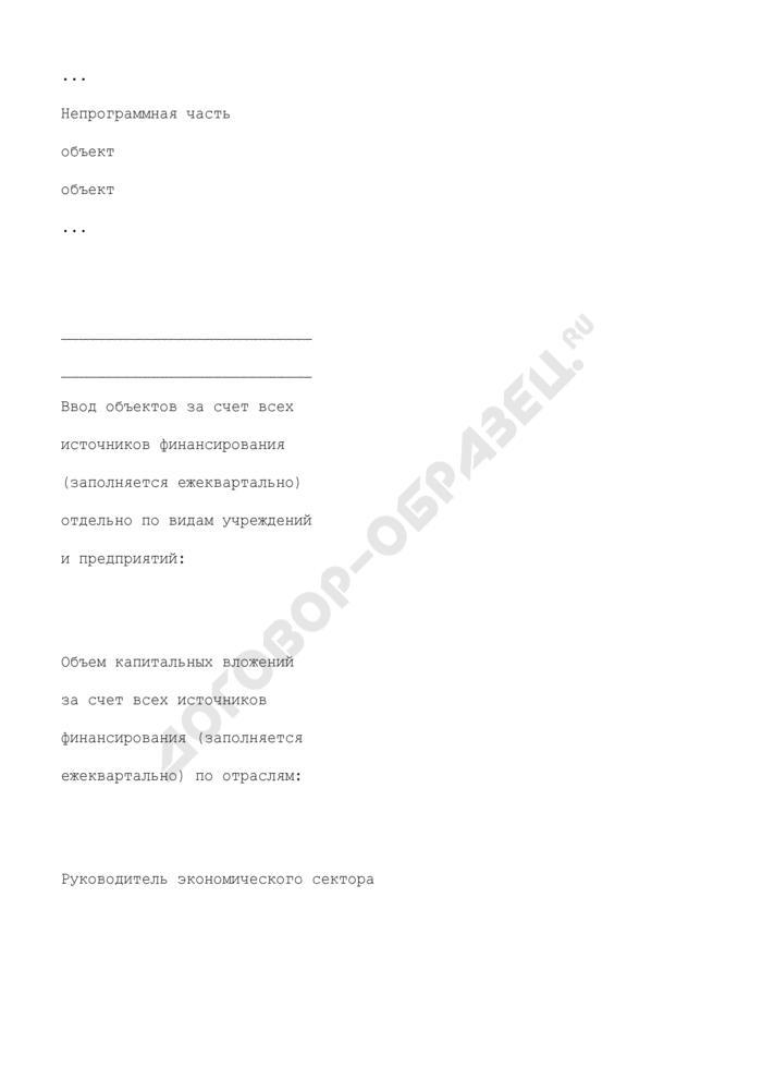 Информация об использовании государственных капитальных вложений по субъекту бюджетного планирования, главному распорядителю средств федерального бюджета, субъекту Российской Федерации. Страница 2