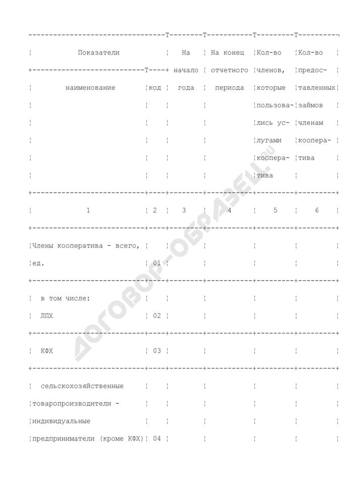 Информация об оказании услуг сельскохозяйственными потребительскими кооперативами (без кредитных) за 9 месяцев 2009 г. Форма N 1-спр. Страница 2