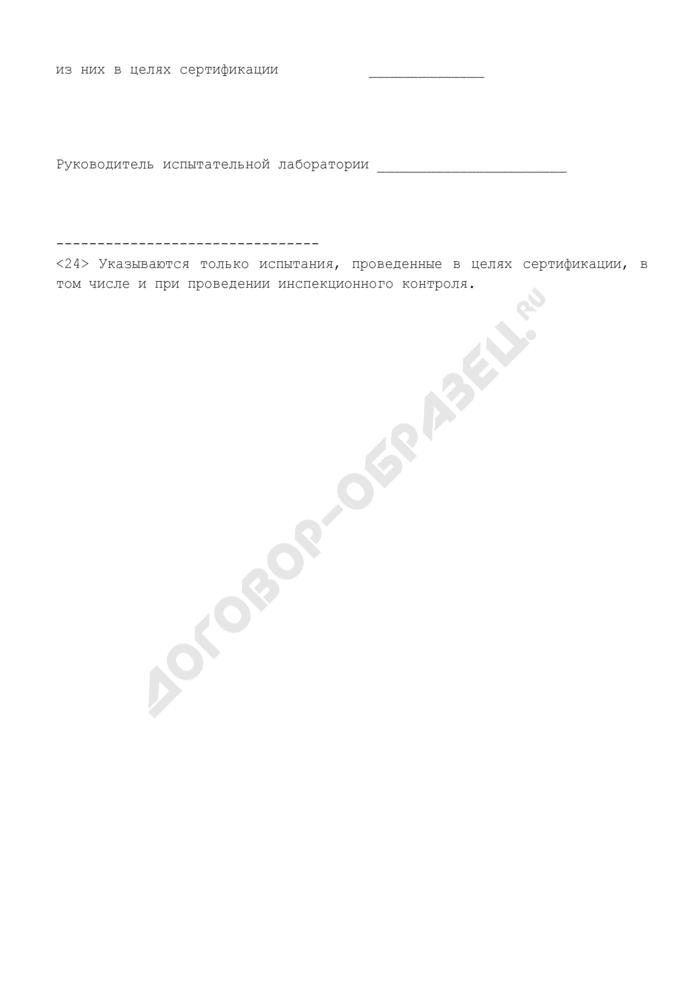 Информация о деятельности испытательной лаборатории в системе сертификации в области пожарной безопасности в Российской Федерации. Страница 2