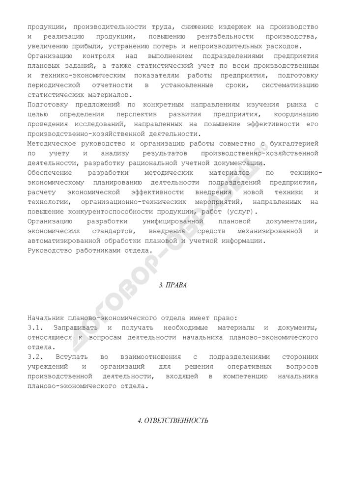 Должностная инструкция начальника планово-экономического отдела. Страница 3