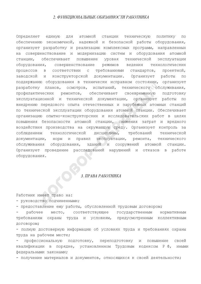Должностная инструкция главного специалиста атомной станции. Страница 3