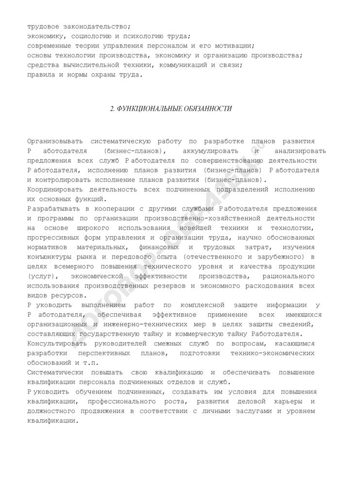 Должностная инструкция директора по развитию. Страница 3
