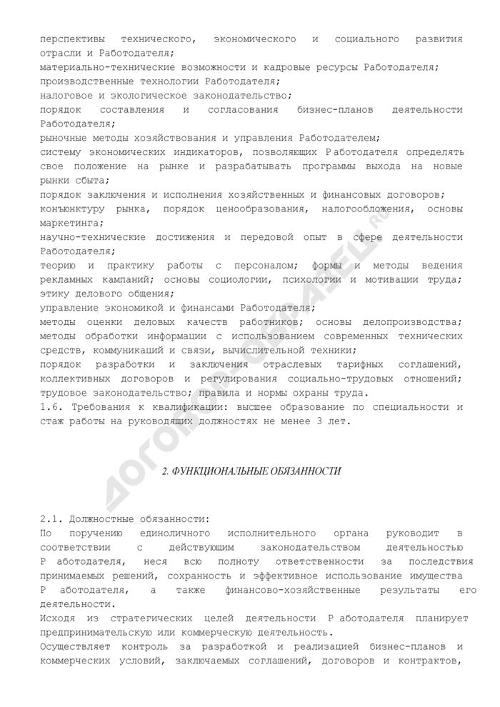 Должностная инструкция исполнительного директора. Страница 3