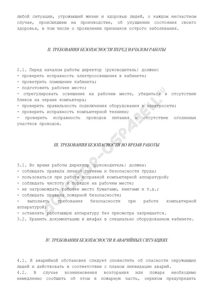 Инструкция по охране труда для директора (руководителя). Страница 3