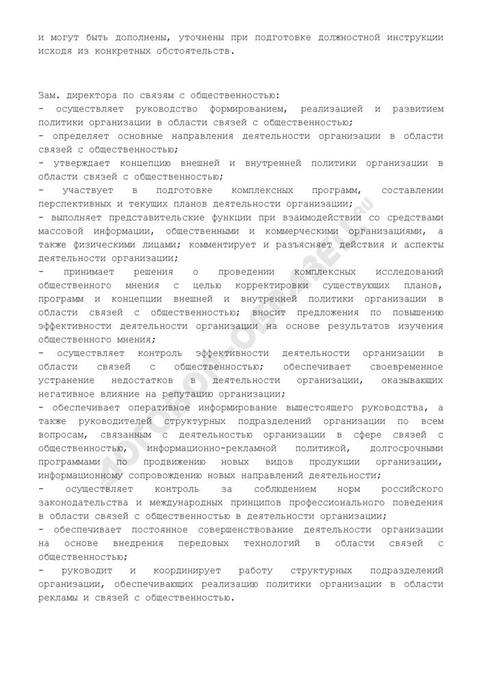 Должностная инструкция заместителя директора по связям с общественностью. Страница 3