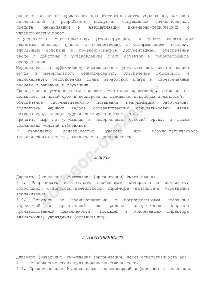 Должностная инструкция директора (начальника) учреждения (организации). Страница 3