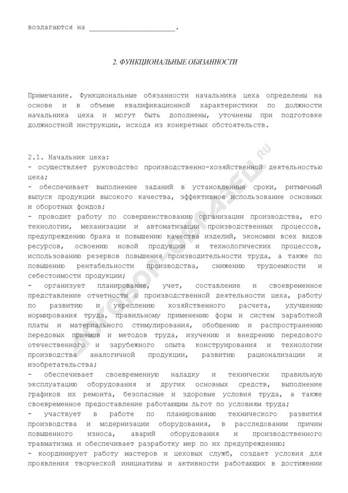 Должностная инструкция начальника цеха. Страница 2