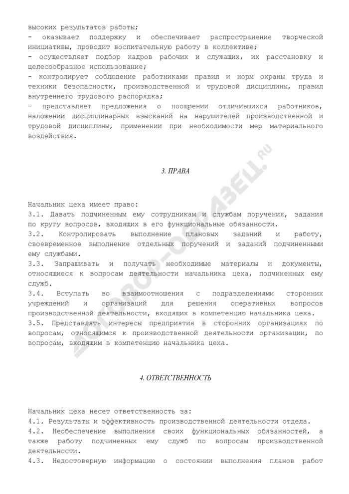 Должностная инструкция начальника цеха. Страница 3
