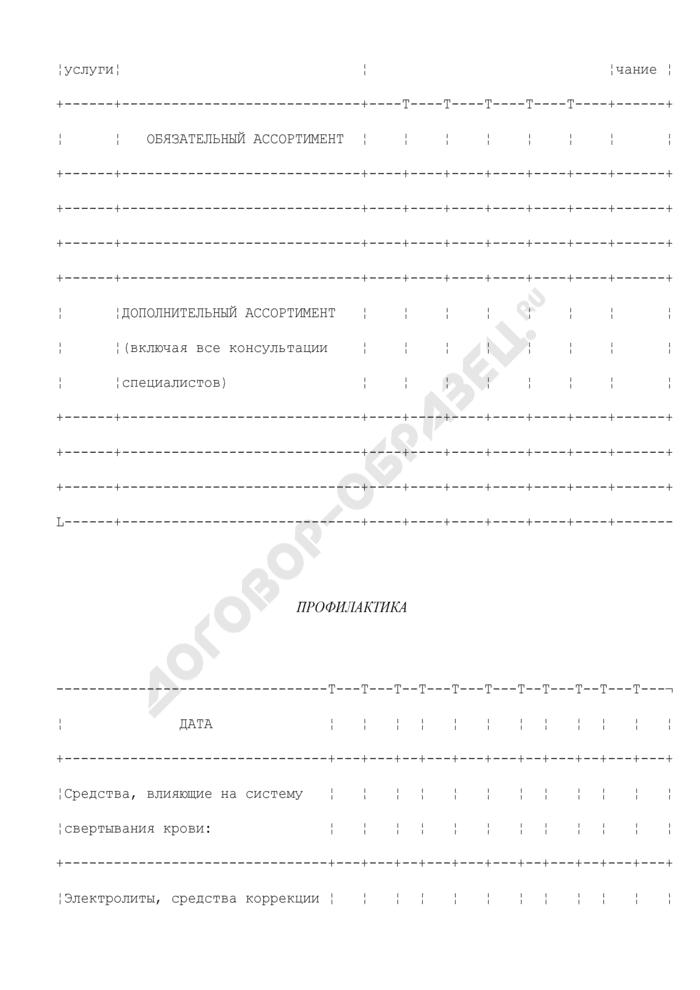 Форма карты пациента медицинских организаций, оказывающих стационарную хирургическую и терапевтическую помощь больным. Страница 3