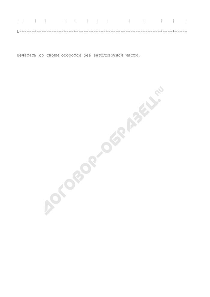Карточка учета результатов переработки бумаги в цехе (участке) подготовки бумаги. Форма N 13-б. Страница 2