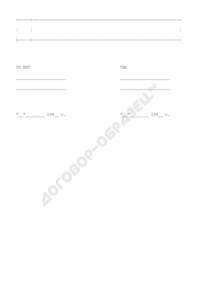 Карточка на СКТВ (КСКПТ) (приложение к типовому договору на оказание услуг по трансляции телевизионных программ по единому городскому телевизионному каналу в городских сетях кабельного телевидения). Страница 2