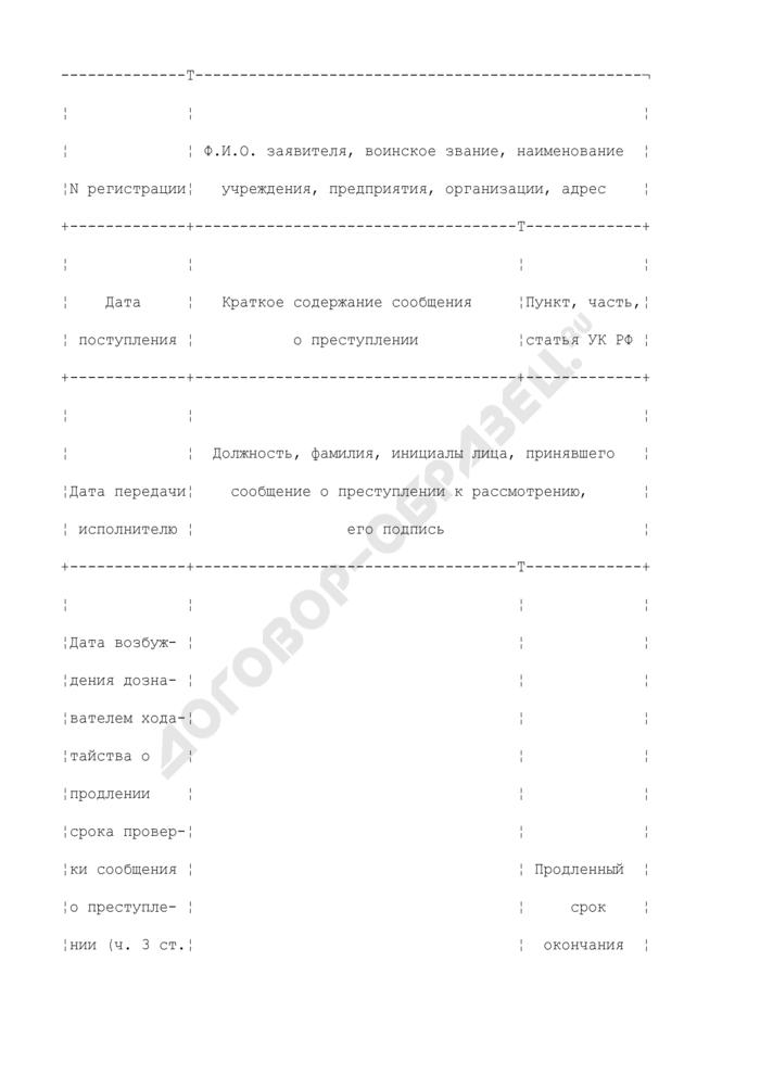 Книга регистрации сообщений о преступлениях, поступивших в войсковую часть (учреждение). Страница 3