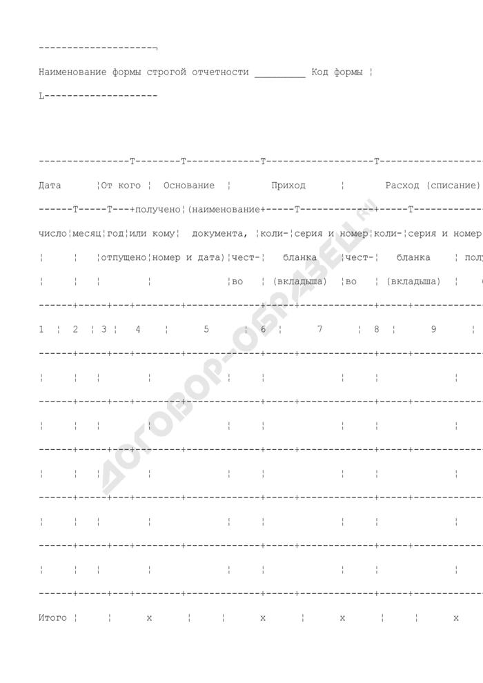 Книга учета бланков строгой отчетности. Страница 2