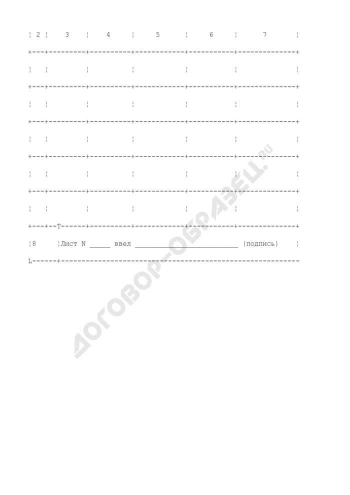 Книга учета выданных документов заявителю о сведениях на объекты капитального строительства. Страница 2