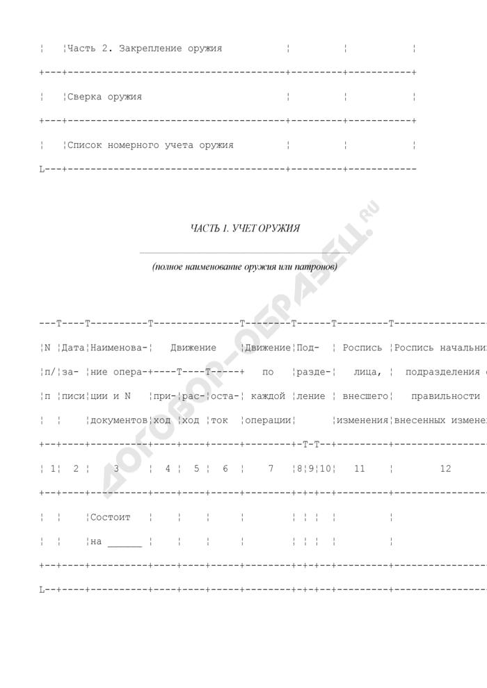 Книга учета и закрепления оружия. Форма N 3А. Страница 2