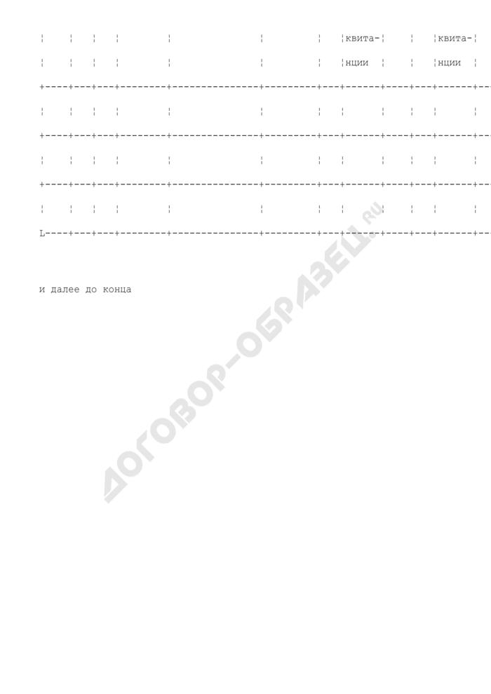 Книга учета расчетов с пациентами по заказ-нарядам на изготовление зубных протезов. Форма N 16-МЗ. Страница 2