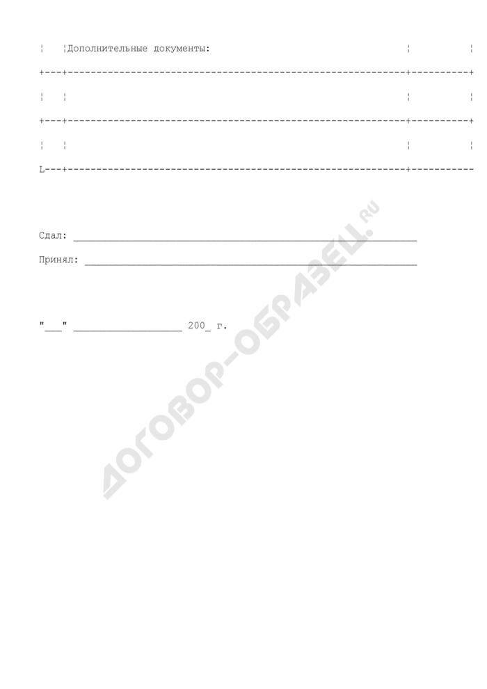 Опись документов, представляемых субъектами аккредитации при Министерстве культуры Московской области. Страница 3