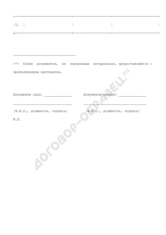 Опись документов для предоставления лицензии на эксплуатацию взрывопожароопасных производственных объектов (образец). Страница 2