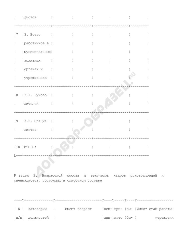 Отчет о численности, составе и движении работников архивных органов и учреждений. Форма N 1-К. Страница 3