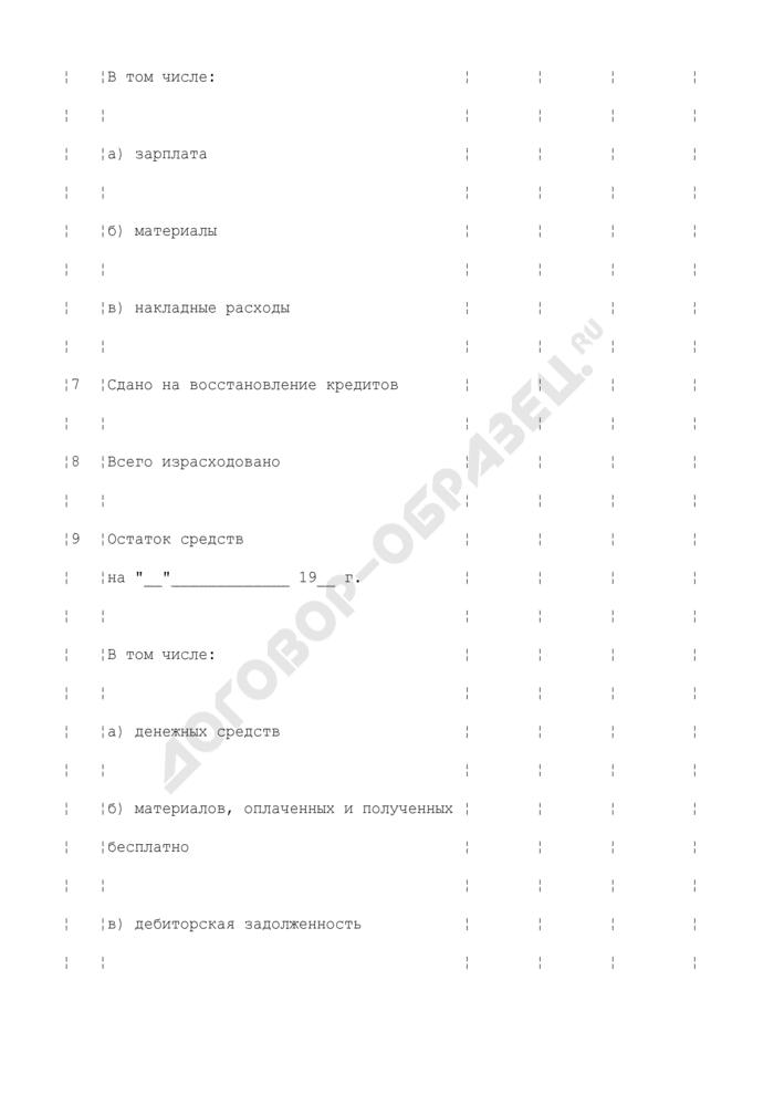 Отчет об израсходовании средств, полученных на текущий ремонт и другие расходы по бюджетной статье 1241 классификации расходов по смете Министерства обороны. Страница 3