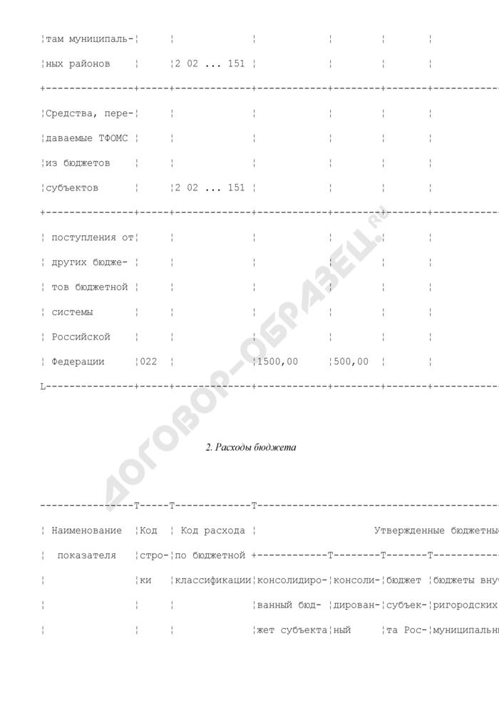 Отчет об исполнении консолидированного бюджета субъекта Российской Федерации и бюджета территориального государственного внебюджетного фонда. Страница 2