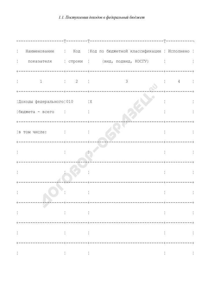 Отчет об исполнении федерального бюджета, представляемый в Правительство Российской Федерации. Страница 2