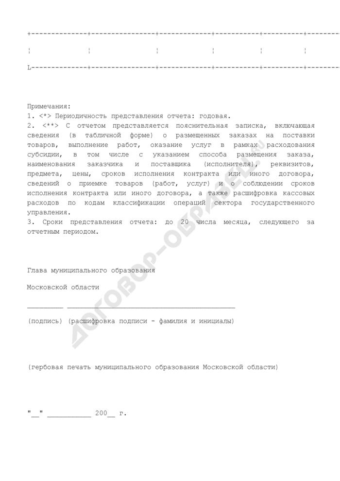 Отчет об использовании субсидии на реализацию программы повышения качества государственных и муниципальных услуг на базе вновь создаваемого многофункционального центра предоставления государственных и муниципальных услуг в Московской области в 2008 году. Страница 2