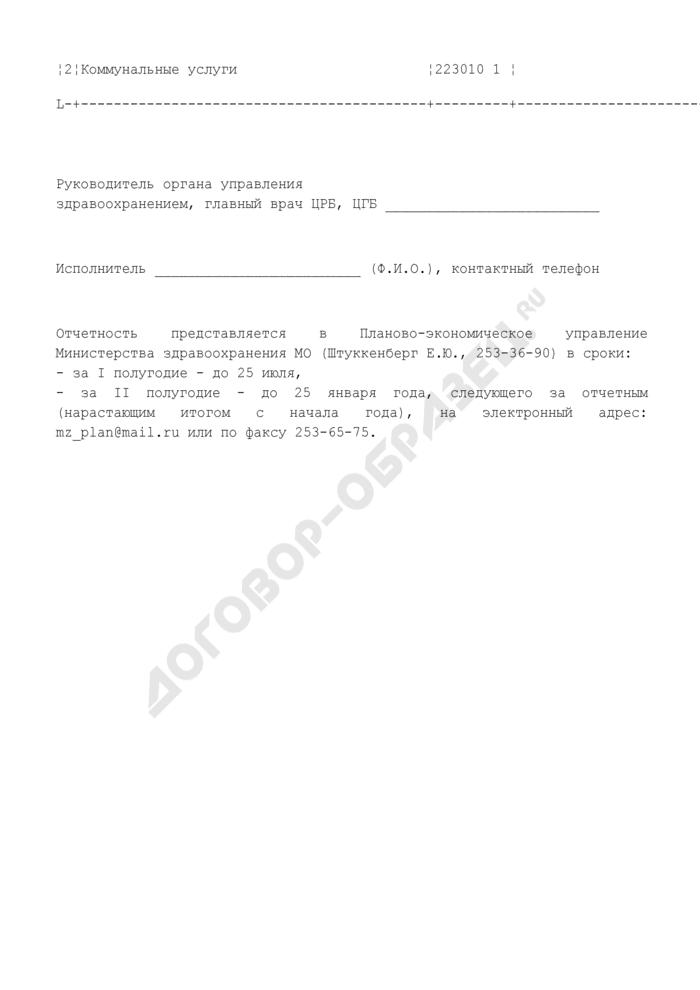 Отчет об объемах платных услуг и использовании денежных средств, полученных от предпринимательской и иной приносящей доход деятельности муниципальными учреждениями здравоохранения Московской области. Страница 3