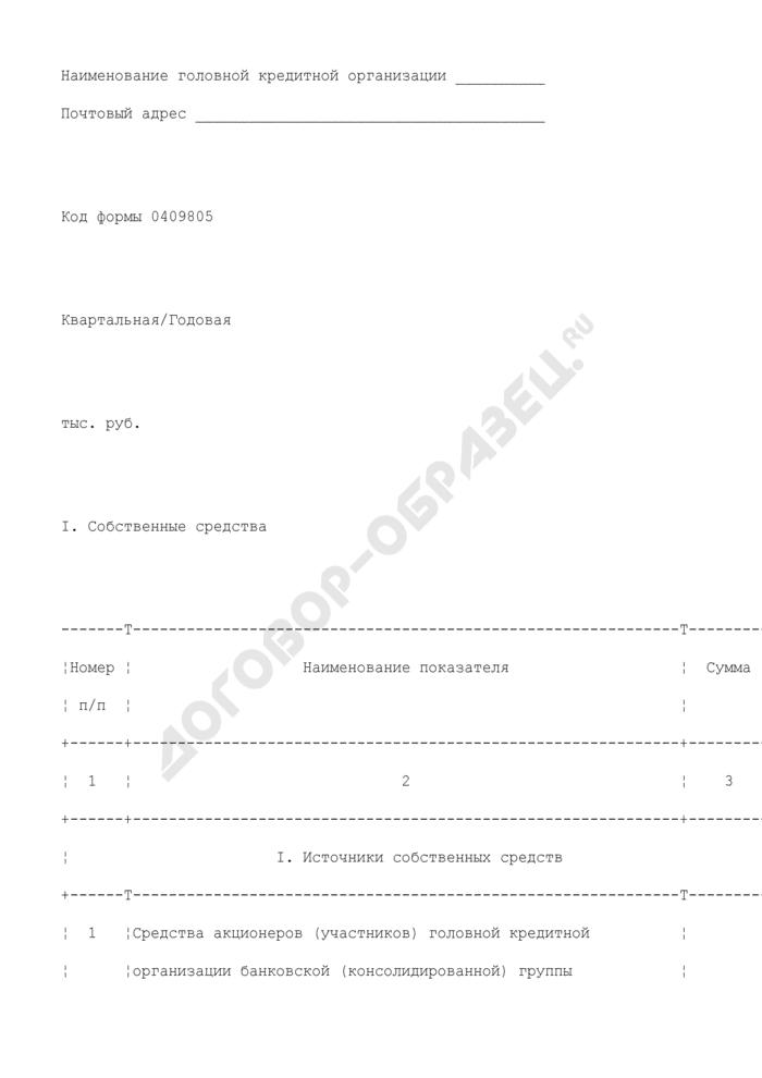Отчет об обязательных нормативах банковской (консолидированной) группы. Страница 2
