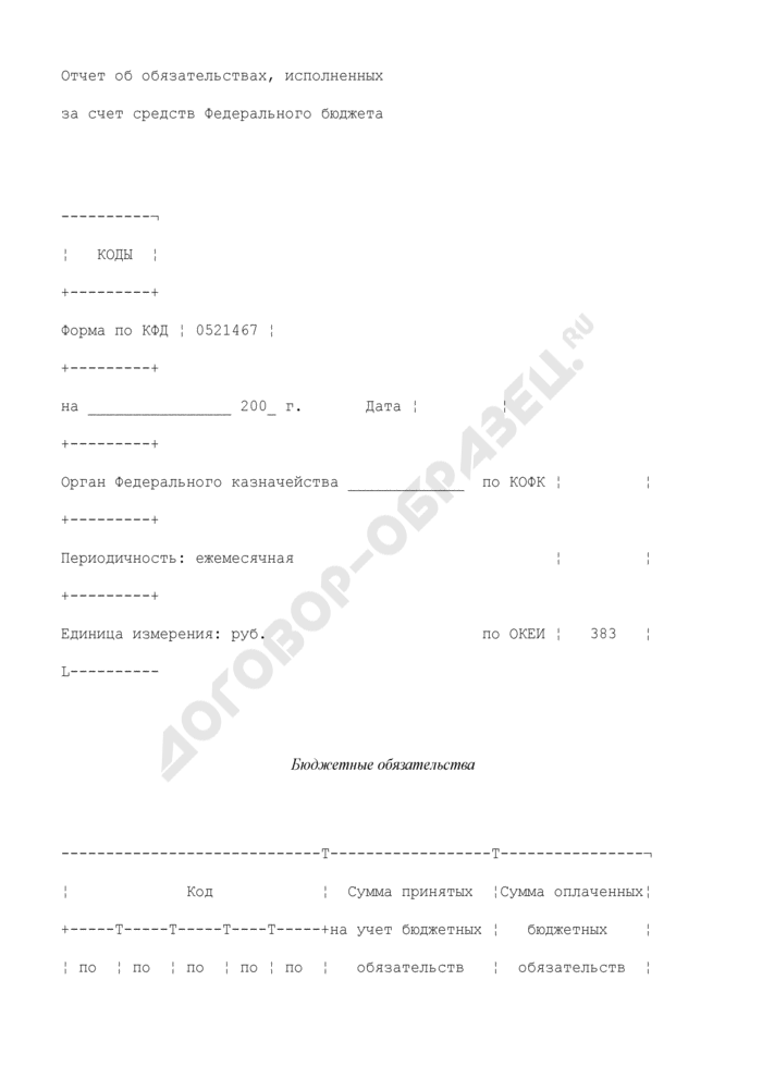 Отчет об обязательствах, исполненных за счет бюджетных и внебюджетных средств. Страница 1